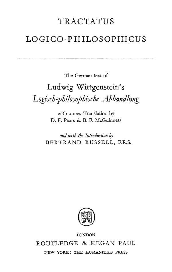 Essays on Wittgenstein's Tractatus